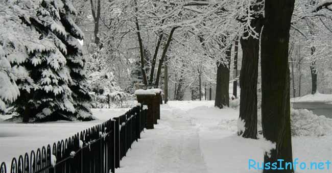 прогноз погоды зимой в 2018 году