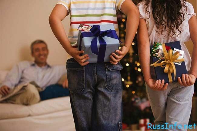 Что можно подарит папе на новый год