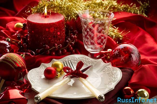 сервировка новогоднего стола 2020 с фото