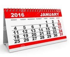 официальный календарь на январь 2016 года
