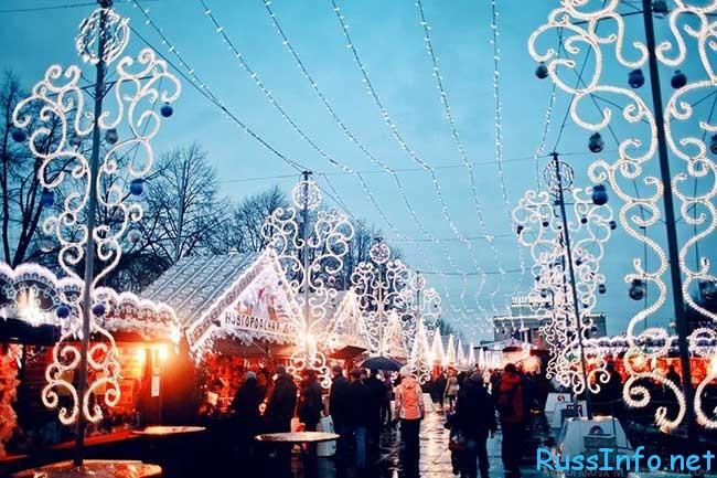 главная рождественская ярмарка Санкт-Петербурга