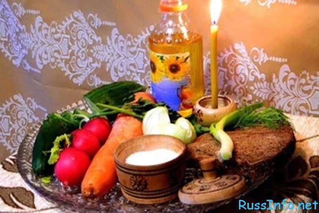 календарь питания по дням на Рождественский пост 2017-2018
