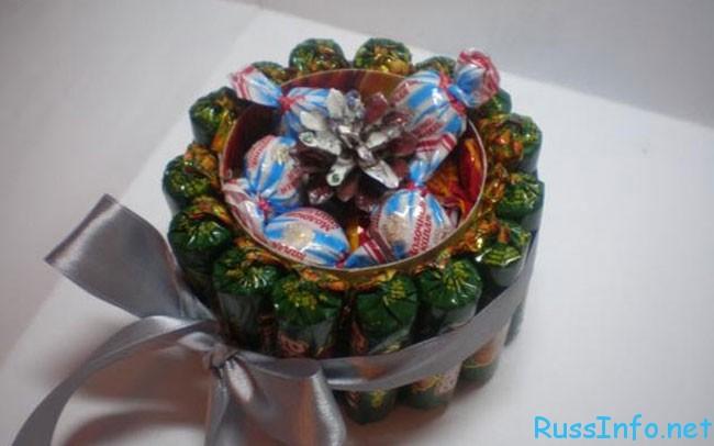 мастер класс как сделать сладкие подарки на 8 марта своими руками