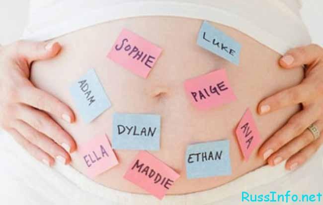 Выбор имени для рожденных в ноябре 2016 года
