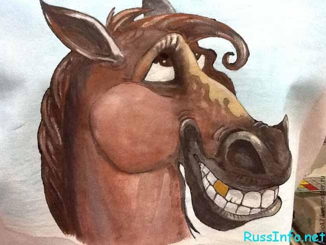 мультяшная лошадь