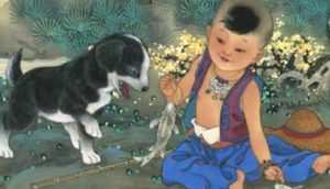 собачка и китайский мальчик