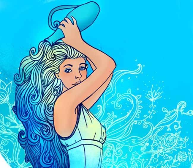 красивая женщина-водолей