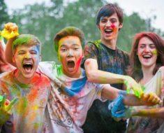 разноцветная молодежь