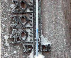 морозный градусник