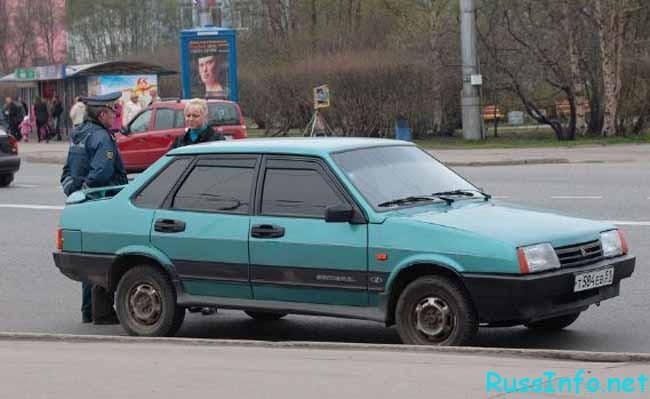 тонированный автомобиль