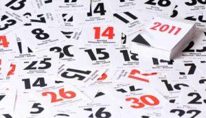 листочки календаря