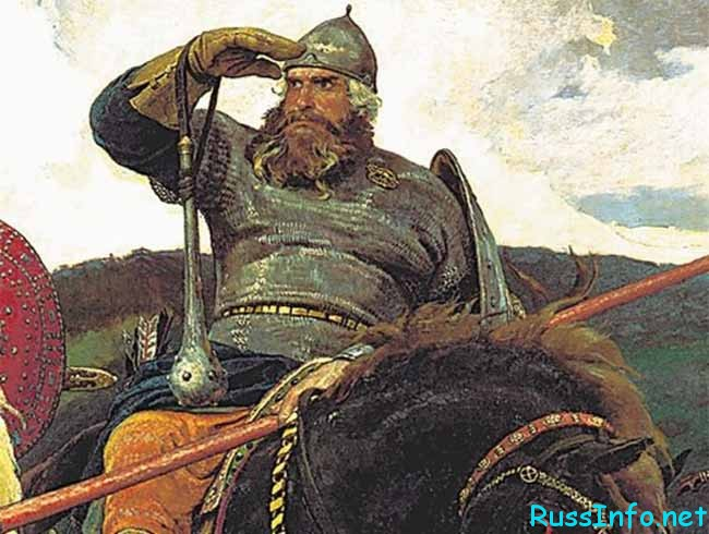 Илья Муромец на коне