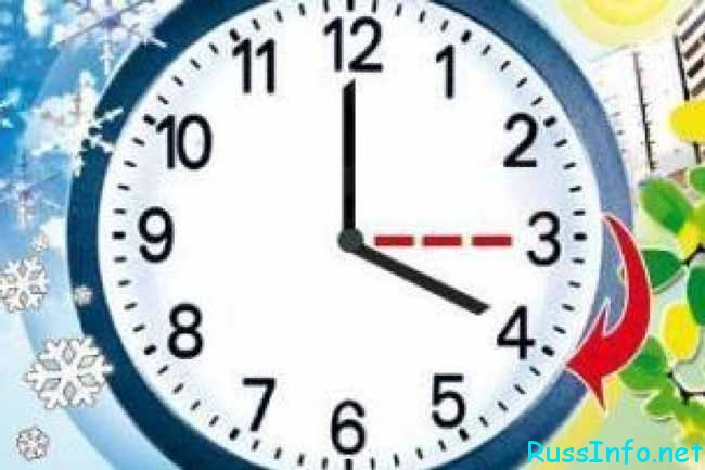 перевод времени на 1 час
