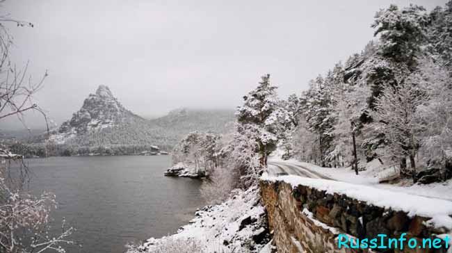 снежный Казахстан
