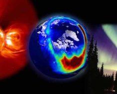 действие магнитных бурь на Землю