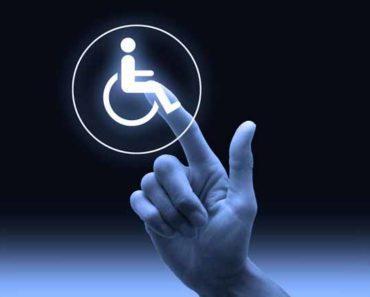 знак инвалид и рука