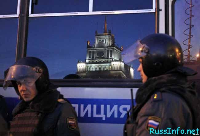 полицейские на страже