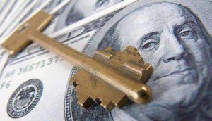 ключи лежат на долларах