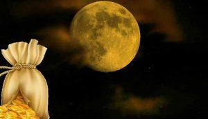 мешок с деньгами и луна