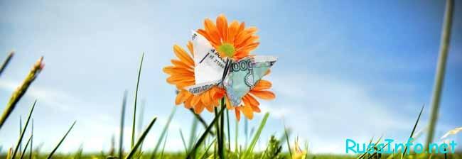цветок и летающие рубли
