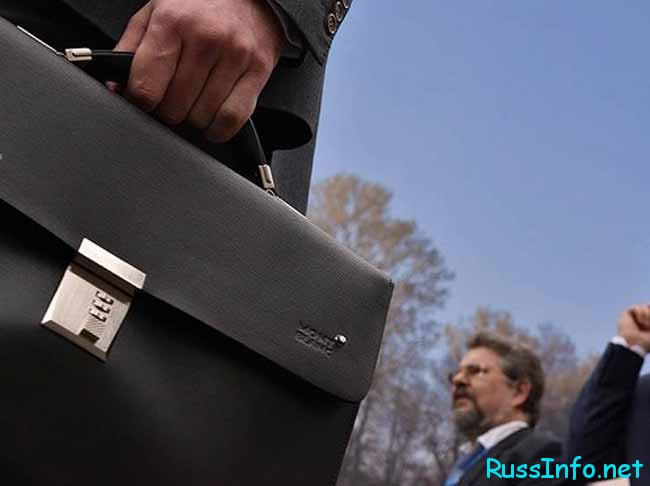 чиновник и портфель