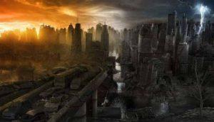 город разрушается