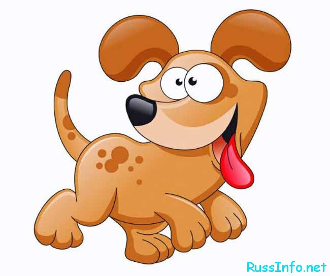 мультяшная собачка