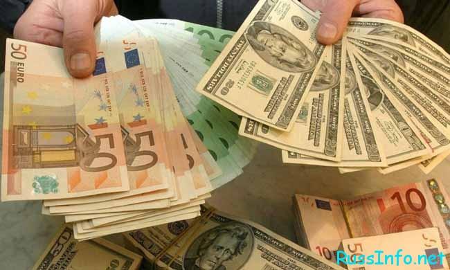 доллары,евро