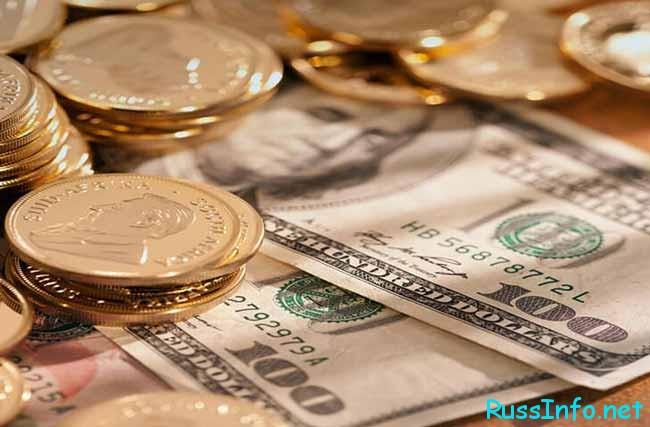 доллары бумажные и железные