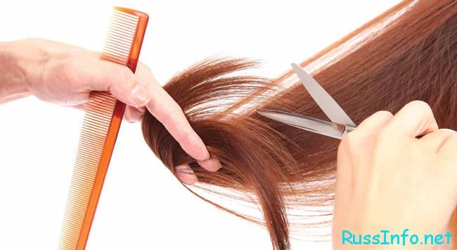 волосы подстригаютт