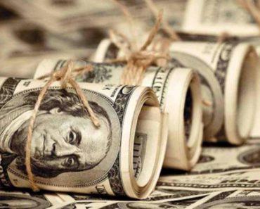 свернутые доллары в трубочку
