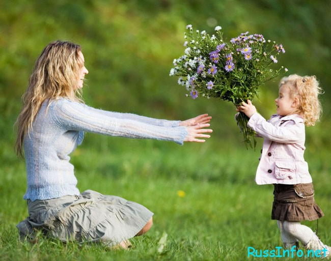 цветочки маме