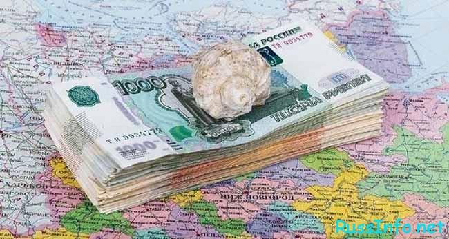 деньги,карта и ракушка