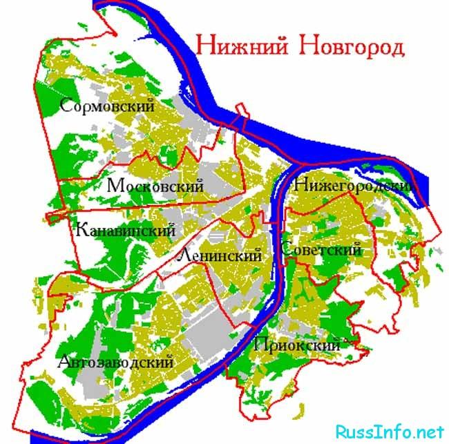 Административное деление города
