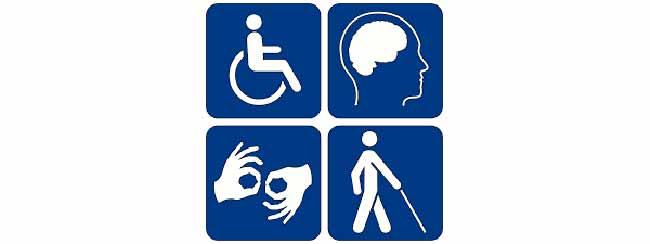Схематичное изображение инвалидности.