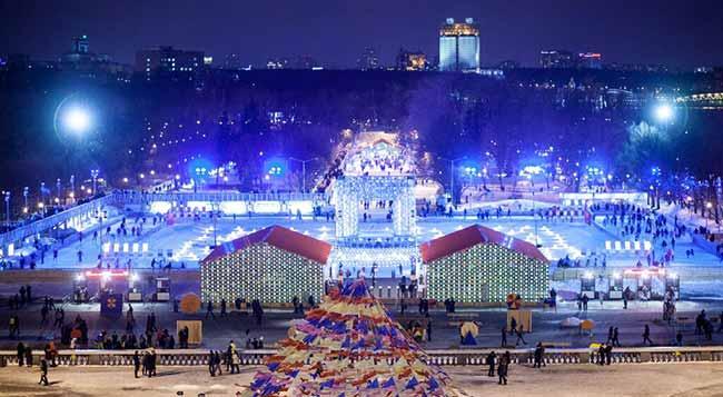 Каток в Москве в парке Горького