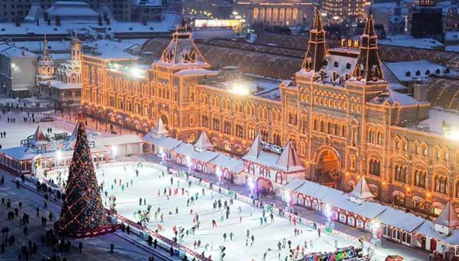 Ледовый каток в Москве