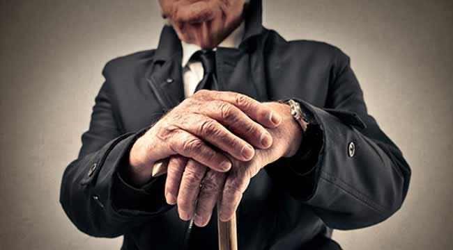 Пенсионер с тросточкой