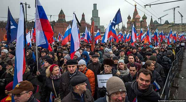 Россияне на площади