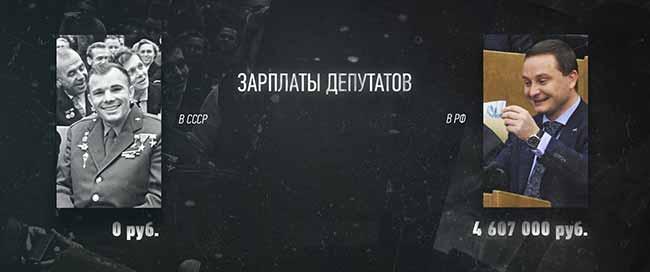 Зарплаты депутатов РФ и СССР