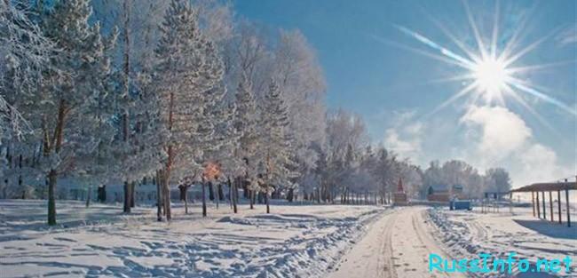 Солнечная зима в Казахстане