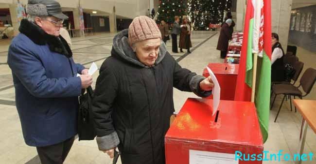 Избирательные участки в Беларусь