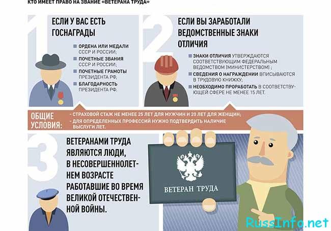 Как оформить льготы ветеранам труда РФ