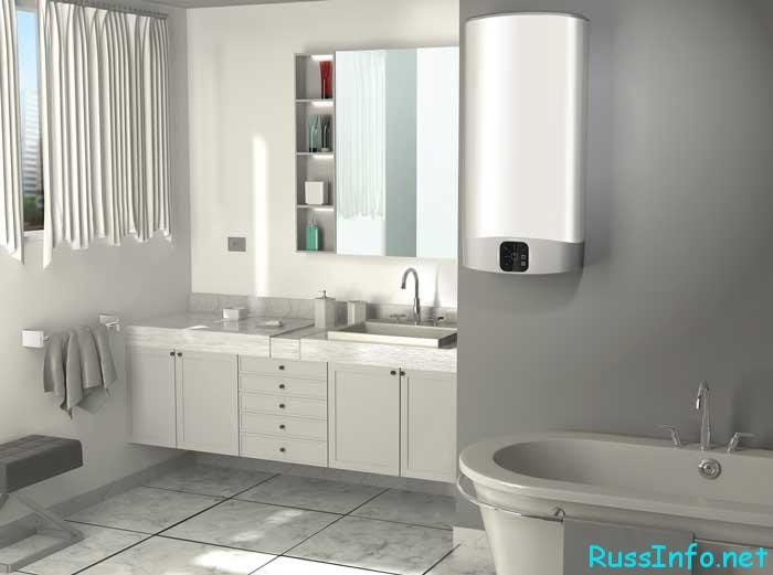 Электрический водонагреватель: как выбрать, установить и не испортить интерьер