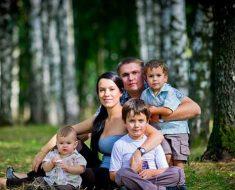 Многодетная семья в России